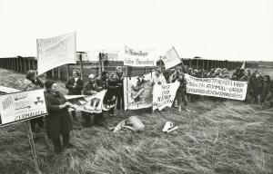 Grenzbesetzung Januar 1982; Foto: Michael Kröger