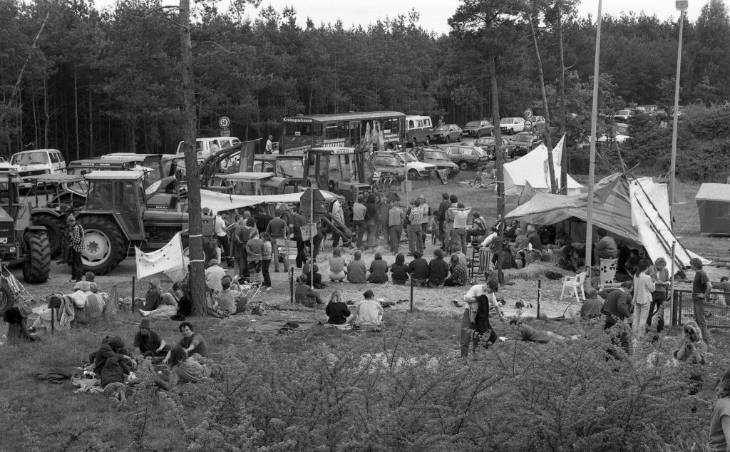 NUKEM-Skandal, Juni 1991: Blockade des Zwischenlagers. Foto: G. Zint